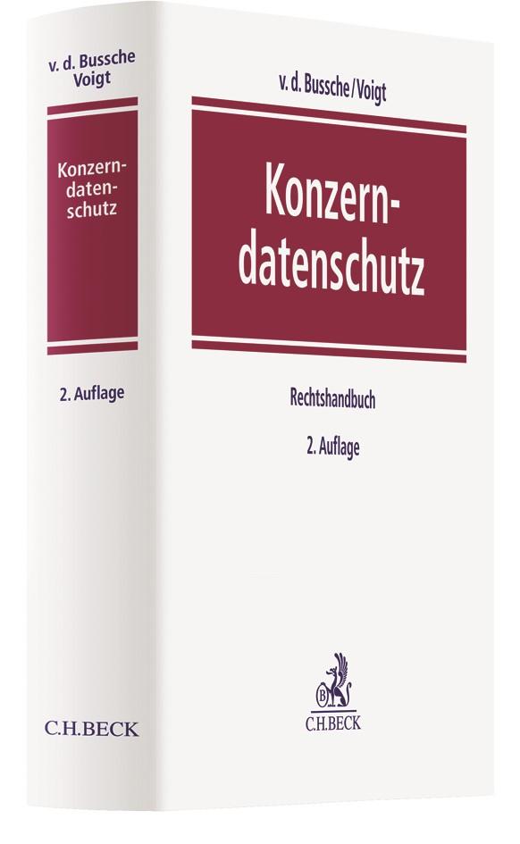 Konzerndatenschutz | v.d. Bussche / Voigt | 2. Auflage, 2018 | Buch (Cover)