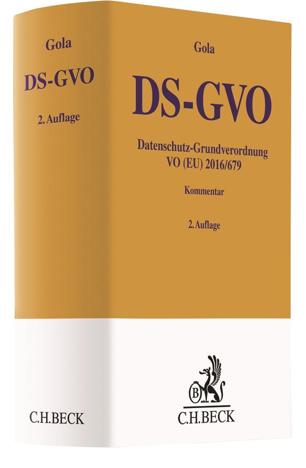 Datenschutz-Grundverordnung VO (EU) 2016/679: DS-GVO | Gola | 2. Auflage, 2018 | Buch (Cover)