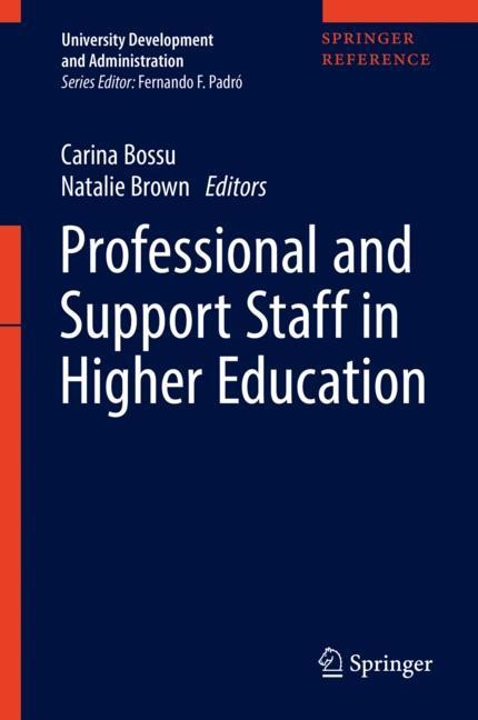 Professional and Support Staff in Higher Education [With eBook] | Bossu / Brown | 2018, 2017 | Buch (Cover)