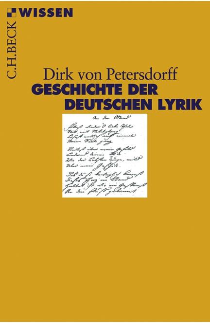 Cover: Dirk Petersdorff, Geschichte der deutschen Lyrik