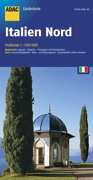 ADAC Länderkarte Italien Nord 1 : 500 000   10. Auflage, Laufzeit bis 2021, 2017 (Cover)