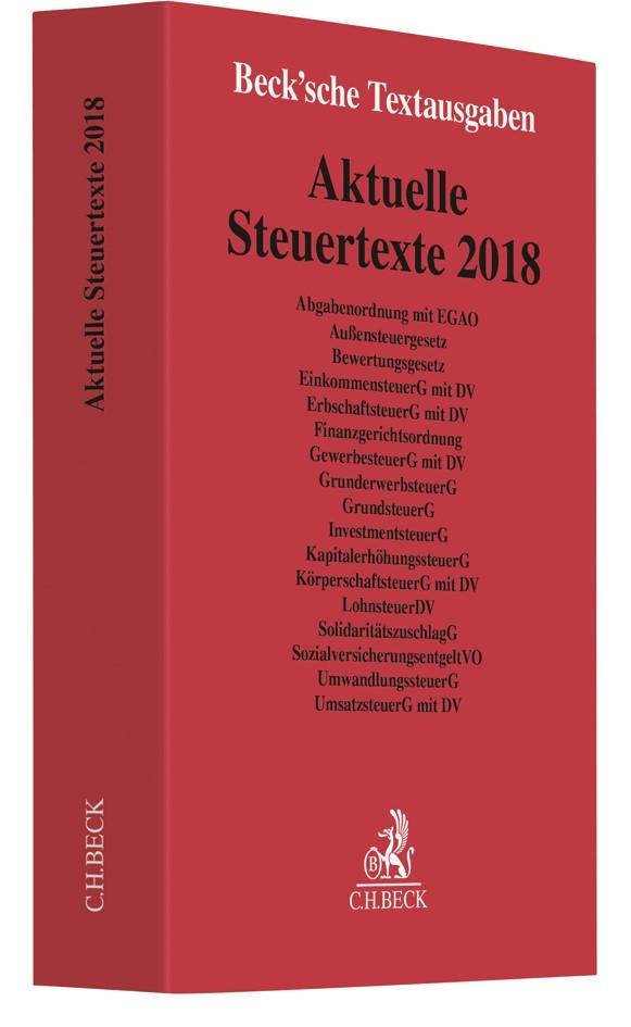 Aktuelle Steuertexte 2018, 2018 | Buch (Cover)