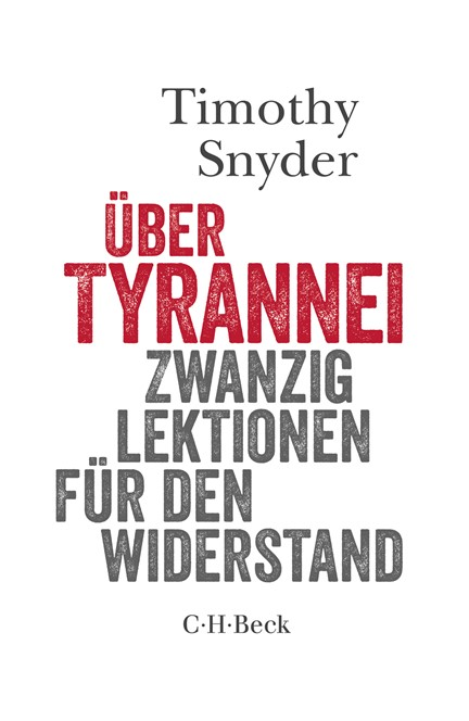 Cover: Timothy Snyder, Über Tyrannei