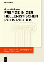 Fremde in der hellenistischen Polis Rhodos | Boyxen, 2018 | Buch (Cover)