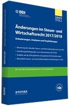 Änderungen im Steuer- und Wirtschaftsrecht 2017/2018 | 5. Auflage, 2017 | Buch (Cover)