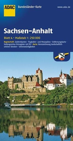ADAC BundesländerKarte Deutschland 04. Sachsen-Anhalt 1 : 250 000 | 4. Auflage, Laufzeit bis 2021, 2017 (Cover)