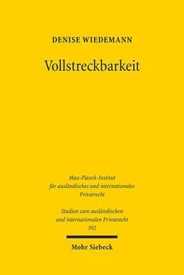 Abbildung von Wiedemann | Vollstreckbarkeit | 2017 | Entwicklung, Wirkungserstrecku... | 392