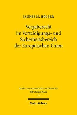 Abbildung von Hölzer | Vergaberecht im Verteidigungs- und Sicherheitsbereich der Europäischen Union | 2017 | 21