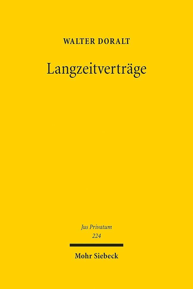 Langzeitverträge | Doralt, 2018 | Buch (Cover)