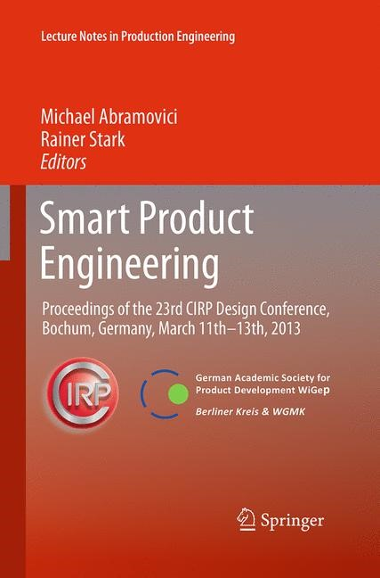 Abbildung von Abramovici / Stark | Smart Product Engineering | Softcover reprint of the original 1st ed. 2013 | 2016