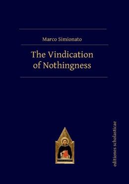 Abbildung von Simionato   The Vindication of Nothingness   1. Auflage   2017   beck-shop.de