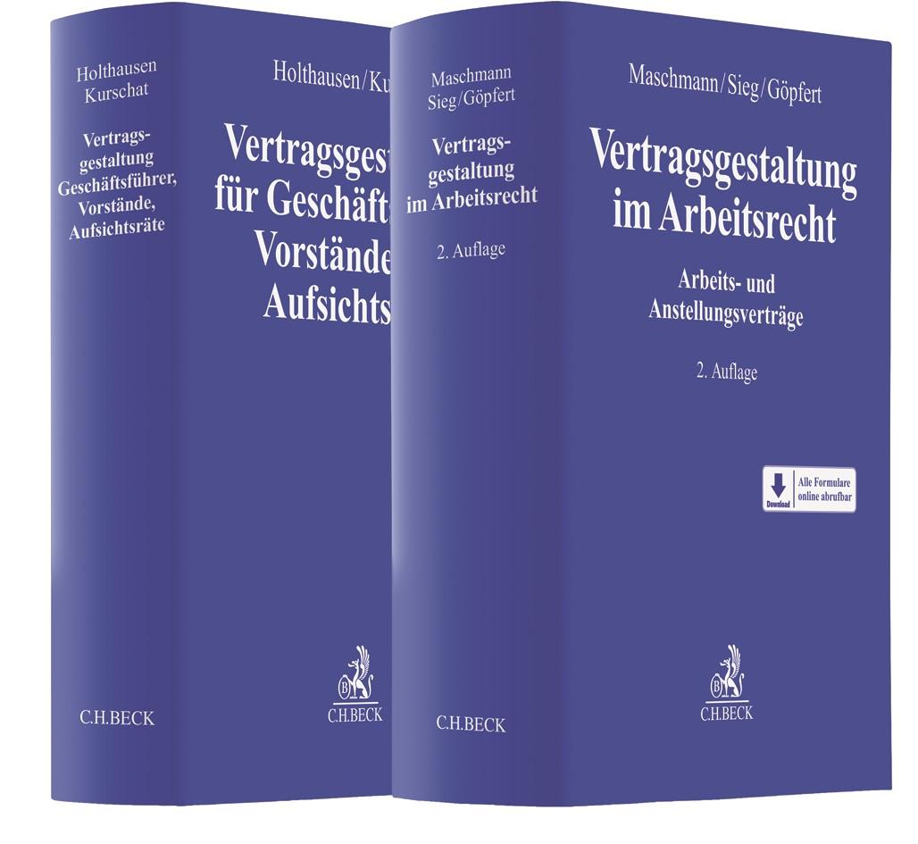 Holthausen / Kurschat, Vertragsgestaltung für Geschäftsführer, Vorstände und Aufsichtsräte + Maschmann / Sieg / Göpfert, Vertragsgestaltung  im Arbeitsrecht - Set, 2017 | Buch (Cover)