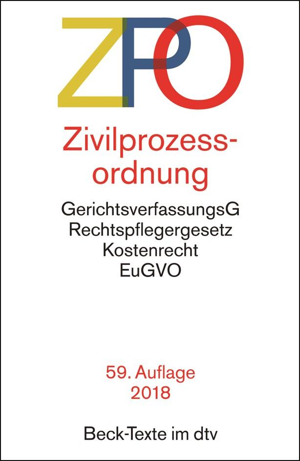 Zivilprozessordnung: ZPO | 59., überarbeitete Auflage, 2018 | Buch (Cover)