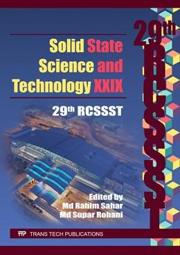 Abbildung von Sahar / Rohani | Solid State Science and Technology XXIX | 1. Auflage | 2017 | Volume 268 | beck-shop.de