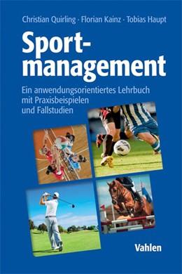 Abbildung von Quirling / Kainz   Sportmanagement   1. Auflage   2017   beck-shop.de
