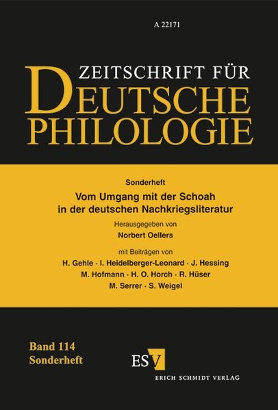 Vom Umgang mit der Schoah in der deutschen Nachkriegsliteratur | Oellers, 1995 | Buch (Cover)