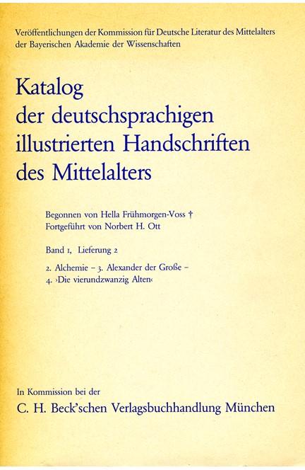 Cover: , Katalog der deutschsprachigen illustrierten Handschriften des Mittelalters Band 1, Lieferung 2.