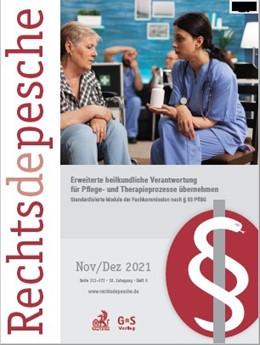 Abbildung von Rechtsdepesche für das Gesundheitswesen | 17. Jahrgang | 2020 | Interdisziplinäres Kompendium ...