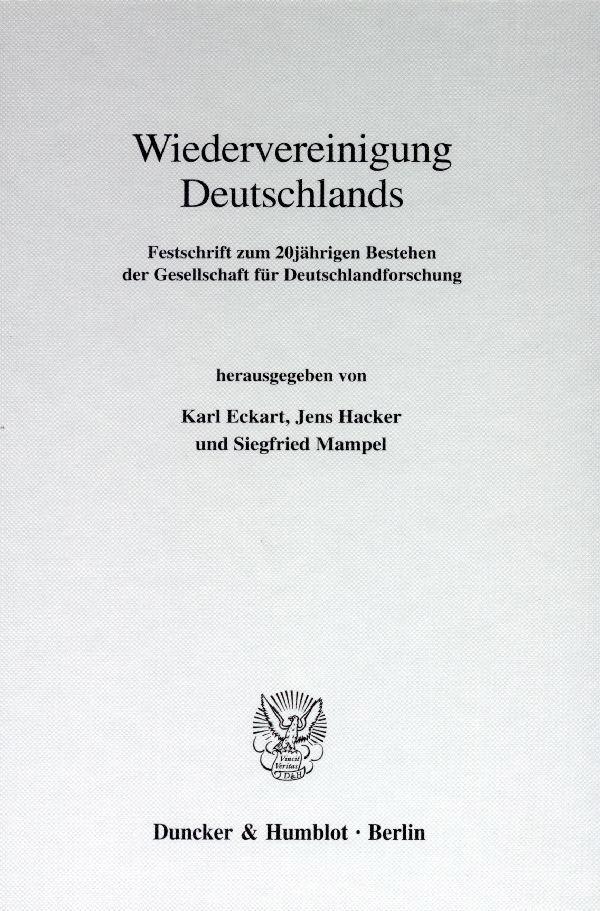 Abbildung von Eckart / Hacker / Mampel   Wiedervereinigung Deutschlands.   1998