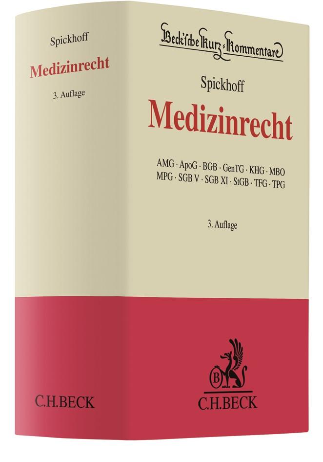 Medizinrecht | Spickhoff | 3. Auflage, 2018 | Buch (Cover)