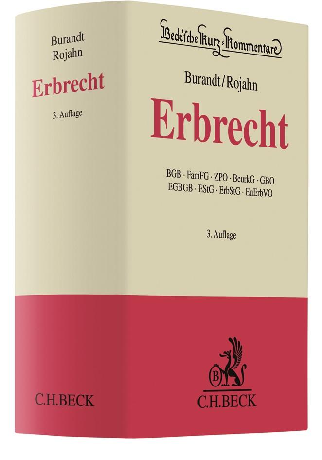Erbrecht | Burandt / Rojahn | 3. Auflage, 2018 | Buch (Cover)