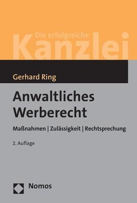 Anwaltliches Werberecht   Ring   2. Auflage, 2018   Buch (Cover)