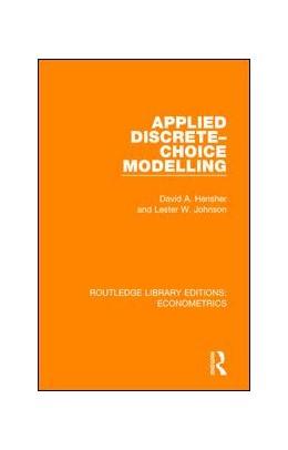 Abbildung von Hensher / Johnson | Applied Discrete-Choice Modelling | 2018