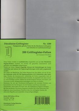 Abbildung von v. Dürckheim | Dürckheim-Register - 200 Folien | 2017 | 200 transparente Folien zum Ei...