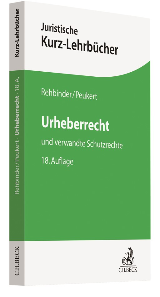 Urheberrecht | Rehbinder / Peukert | 18. Auflage, 2018 | Buch (Cover)