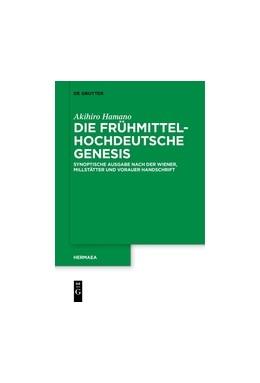 Abbildung von Hamano   Die frühmittelhochdeutsche Genesis   2017   Synoptische Ausgabe nach der W...   138