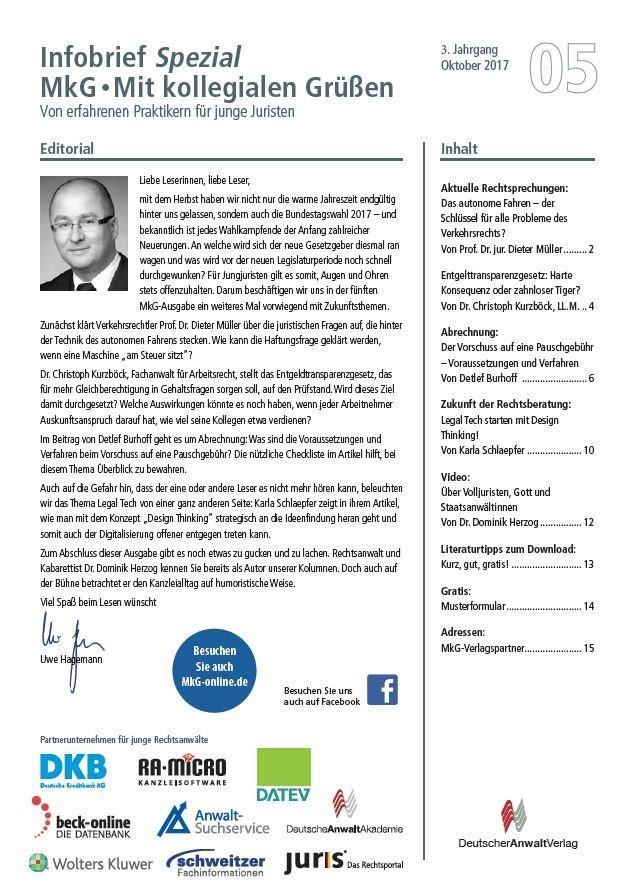 Infobrief Spezial MkG • Ausgabe 05/2017 | 3. Jahrgang, 2017 (Cover)