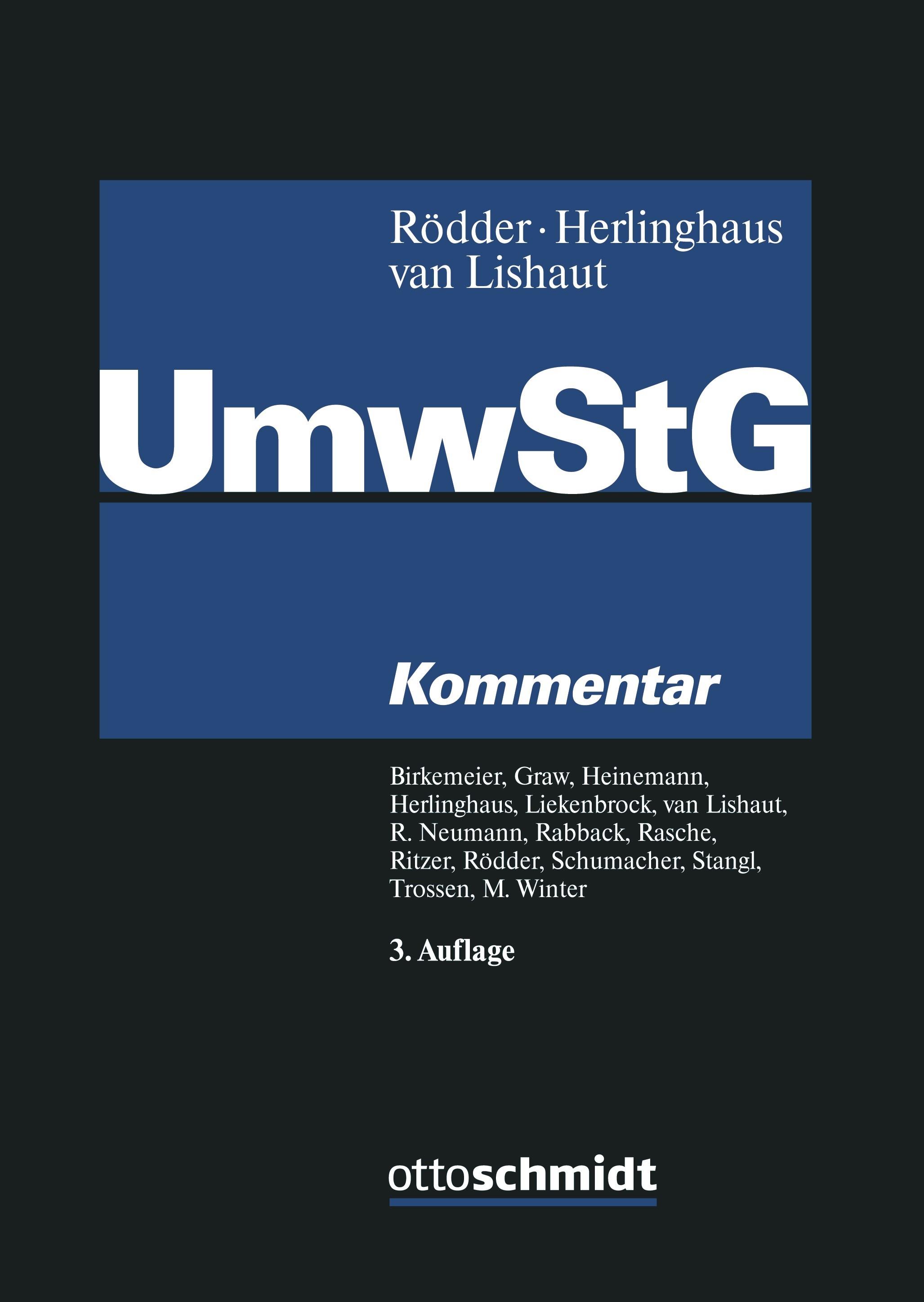 Abbildung von Rödder / Herlinghaus / van Lishaut (Hrsg.) | Umwandlungssteuergesetz: UmwStG | 3. Auflage | 2019
