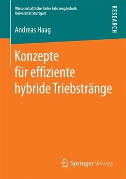 Abbildung von Haag | Konzepte für effiziente hybride Triebstränge | 1. Auflage | 2017 | beck-shop.de