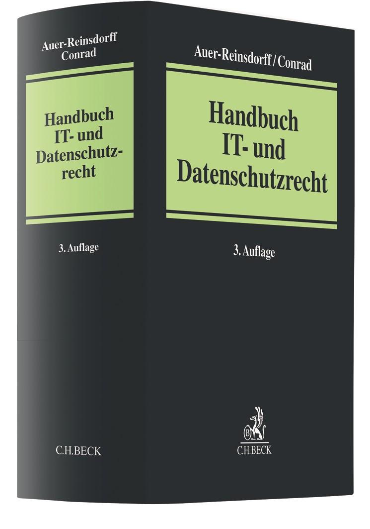 Abbildung von Auer-Reinsdorff / Conrad | Handbuch IT- und Datenschutzrecht | 3. Auflage | 2019