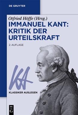 Abbildung von Höffe | Immanuel Kant: Kritik der Urteilskraft | 2nd edition | 2018
