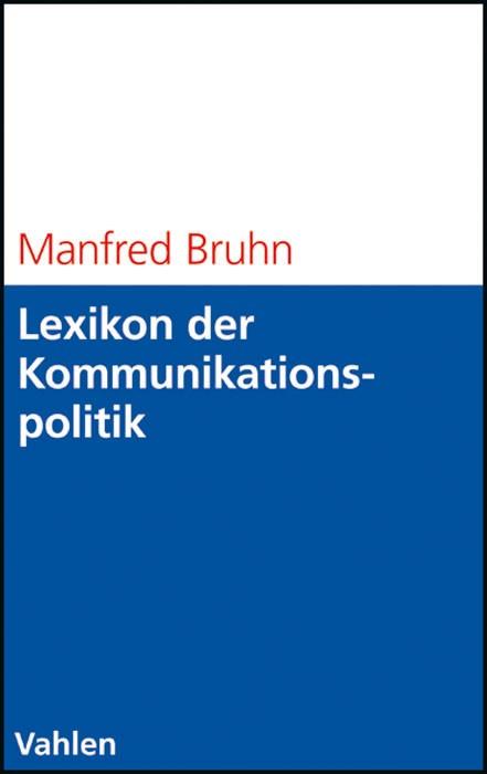 Lexikon der Kommunikationspolitik | Bruhn, 2008 | Buch (Cover)