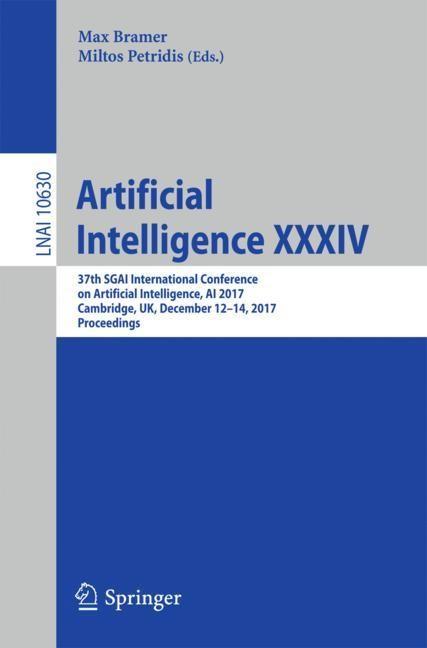 Artificial Intelligence XXXIV | Bramer / Petridis | 1st ed. 2017, 2017 | Buch (Cover)