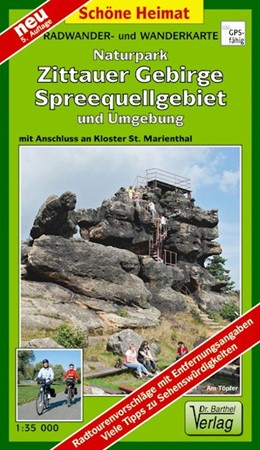 Abbildung von Naturpark Zittauer Gebirge, Spreequellgebiet und Umgebung 1 : 35 000 Radwander- und Wanderkarte | 5., Aufl | 2017 | Mit Anschluss an Kloster St. M...