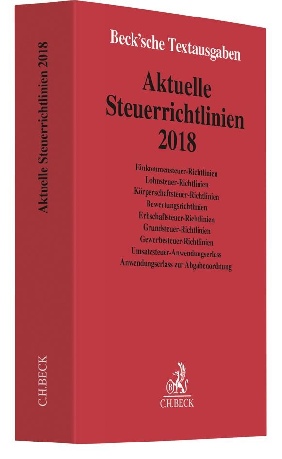 Aktuelle Steuerrichtlinien 2018, 2018 | Buch (Cover)