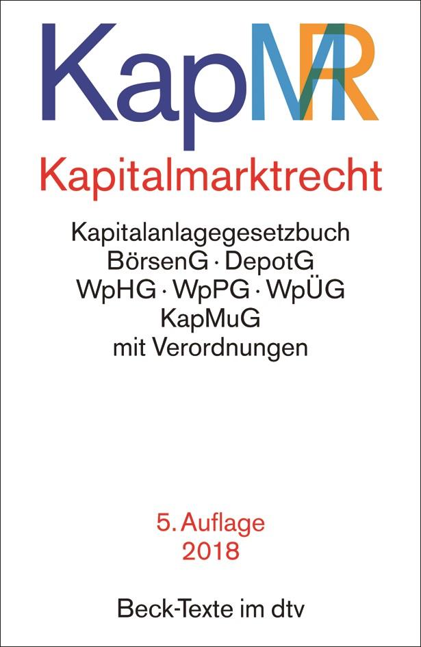 Kapitalmarktrecht: KapMR | 5. Auflage, 2018 | Buch (Cover)