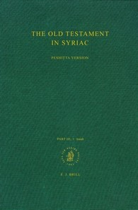 Abbildung von Brock | The Old Testament in Syriac according to the Peshitta Version, Part III Fasc. 1. Isaiah | 1993