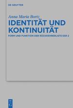Identität und Kontinuität | Bortz, 2018 | Buch (Cover)