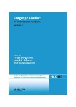 Abbildung von Darquennes / Salmons / Vandenbussche | Language Contact. Volume 1 | 2019 | 45/1