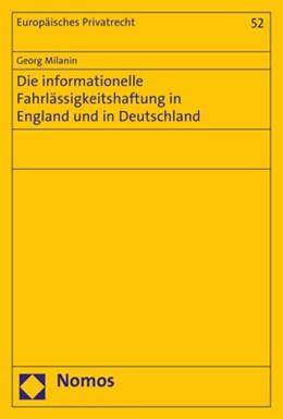 Abbildung von Milanin | Die informationelle Fahrlässigkeitshaftung in England und in Deutschland | 2017 | 52
