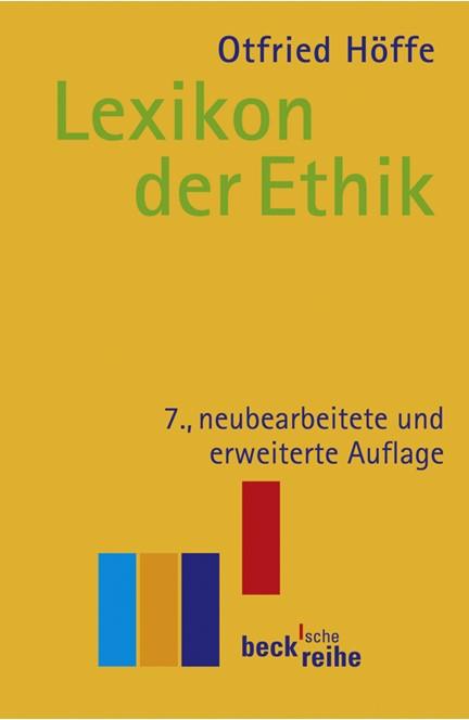 Cover: , Lexikon der Ethik