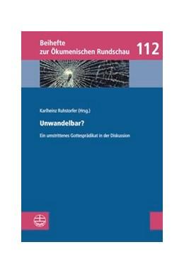 Abbildung von Ruhstorfer | Unwandelbar? | 1. Auflage | 2018 | 112 | beck-shop.de