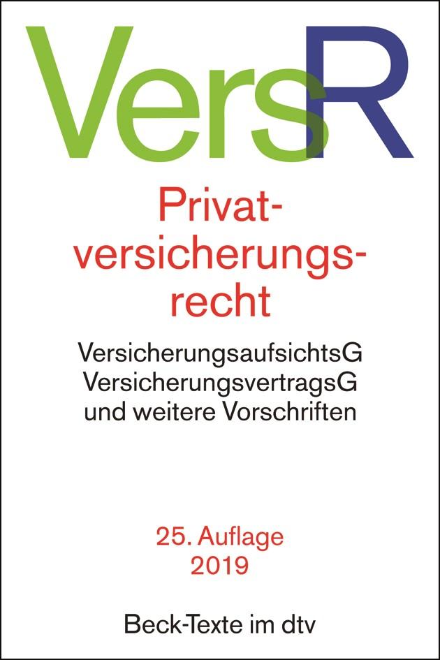 Privatversicherungsrecht: VersR | 25. Auflage, 2018 | Buch (Cover)