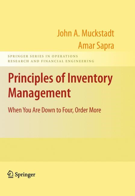 Principles of Inventory Management | Muckstadt / Sapra | ., 2009 | Buch (Cover)