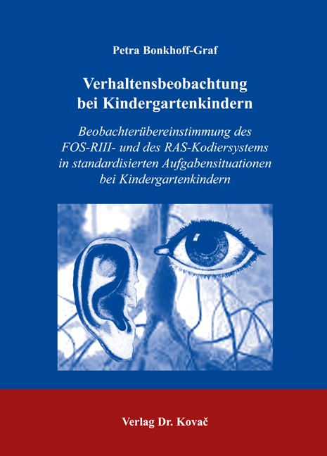 Verhaltensbeobachtung bei Kindergartenkindern | Bonkhoff-Graf, 2006 | Buch (Cover)