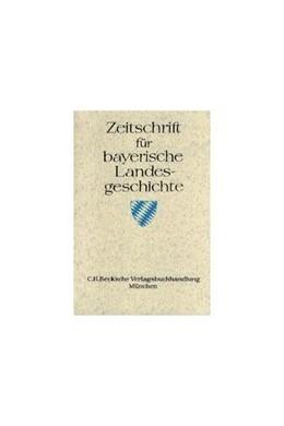 Abbildung von Zeitschrift für Bayerische Landesgeschichte Band 49 Heft 1-3   1. Auflage   1984   beck-shop.de
